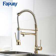 kitchen faucets sprayer fapully gold kitchen faucet sprayer single handle 360 degree