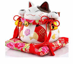 maneko japanese lucky cat shop ornament piggy bank opening home