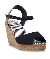 black u0026 tan peep toe bypass espadrille wedge sandals u2013 unique vintage