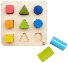 amazon com hape color and shape wooden block sorter toys u0026 games