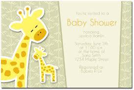 giraffe themed baby shower giraffe baby shower invitations marialonghi