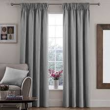 Pencil Pleat Curtains Vermont Dove Grey Lined Pencil Pleat Curtains Dunelm