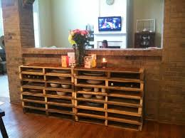 buffet table from wood pallets pallet buffet for patio my