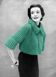 finnfemme fab 50s vintage bolero sweater knitting pattern my