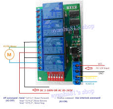 dc 12v 4 channel rs485 delay timer switch relay module modbus at