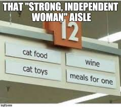 Strong Woman Meme - strong independent woman aisle imgflip