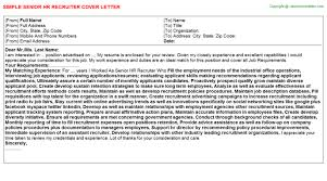 senior hr recruiter job title docs