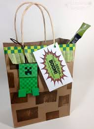 minecraft goody bags diy minecraft favor bags plucking daisies