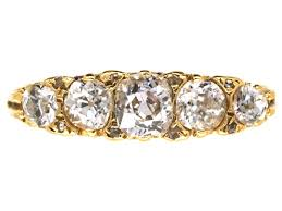 carved engagement rings appealing ct gold five diamond carved half hoop