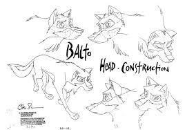 balto coloring pages balto character sheets steele animation pinterest animation