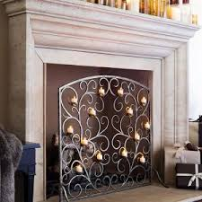 Fireplace Screen Doors Home Depot by Decor Fireplace Screen For Decorating And Will Keep Sparks Inside