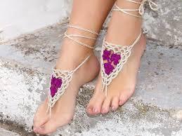 barefoot sandals for wedding knitted crochet barefoot sandals wedding anklets