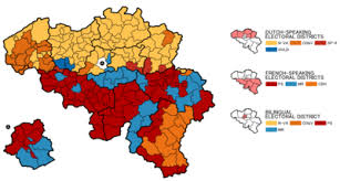 belgium language map belgian federal election 2010
