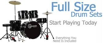 size drum sets cheap sale