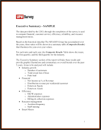 Resume Executive Summary Examples by Executive Summary Template Example Mughals