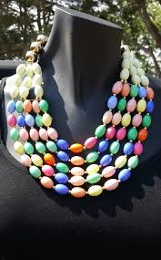 strand necklace images Multi strand bright color summer necklace jewels by elan jpg
