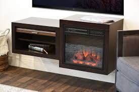 wall mount floating tv media stand with fireplace small spaces
