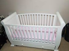 Sleigh Cot Bed White Sleigh Cot Bed Baby Cotbeds U0026 Mattresses Ebay