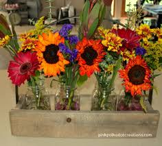 Mason Jar Arrangements Fall Mason Jar Flowers Pink Polka Dot Creations