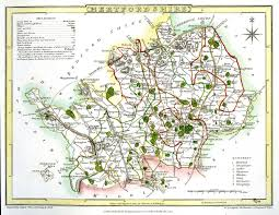 Hertfordshire England Map by Jonathan Potter Map Hertfordshire