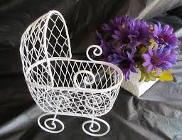carriage centerpiece baby shower baskets and buggies wicker baby bassinet table