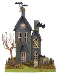 halloween figurines lori mitchell haunted halloween house cody foster putz theholidaybarn com