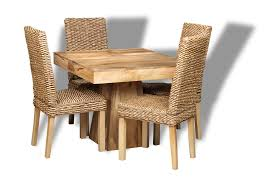 mango wood dining table dakota dining room table made from mango wood with rattan chairs