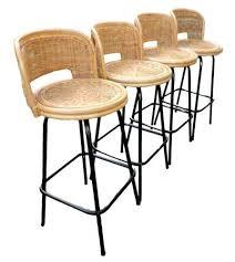 Mid Century Bar Stool Bar Stool Rattan Swivel Bar Stools With Back Vintage Mid Century