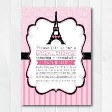 eiffel tower invitations bridal shower invitation pink and black bridal shower