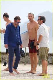 vincent cassel goes shirtless for surfing session photo 3529403