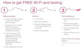 t mobile free inflight wifi t mobile inflight wifi t mobile customers ll get free and texting