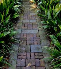 brick path landscape farmhouse with garden pathway traditional