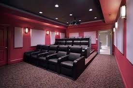 theater home seating home theater with tan seats and spotlights the suitable home