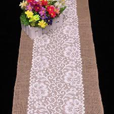 natural burlap table runner 30cm 180cm burlap table runner wedding decoration deco linen table