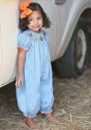 smocked turkey dress from smocked auctions give thanks
