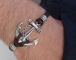 anchor bracelet silver images Anchor bracelet etsy jpg