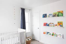 Narrow Picture Ledge Art Over Nursery Book Ledges Design Ideas