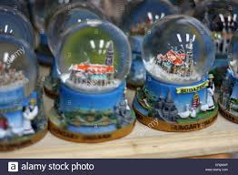 snow globes for sale in budapest hungary stock photo royalty