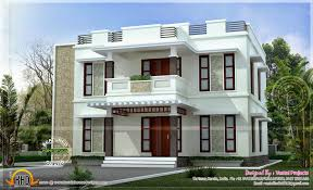 Home Design Beautiful Home Design Flat Roof Style Kerala Home