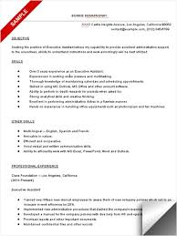 Resume Other Skills Examples by Executive Assistant Resume Sample