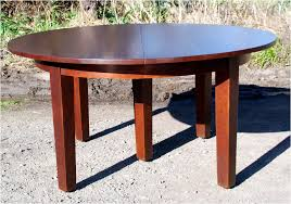 60 round dining table with leaf luxury voorhees craftsman mission