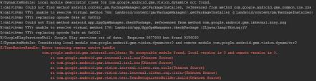 android gms w dynamitemodule local module descriptor class for