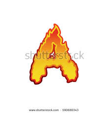 letter fire flames font lettering tattoo stock vector 590680343