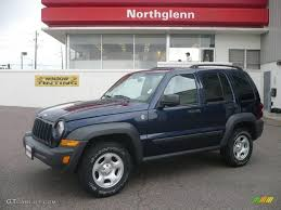 liberty jeep 2007 2007 midnight blue pearl jeep liberty sport 4x4 12037535 photo 5