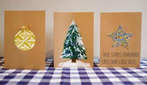 three simple ideas for homemade christmas cards marmalade pie
