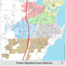 Austin City Council District Map by City Of Neenah Neighborhood Policing