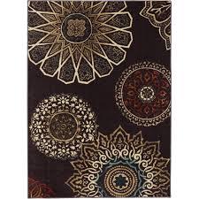 mohawk home midnight rosette nylon rug chocolate walmart com