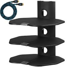 wall mounted l with cord cheetah mounts as3b three 3 shelf tv component wall mount shelving