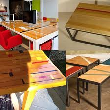 Desks Diy Diy Floor Desks With Industrial Plumbing Fixture Legs