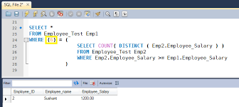 employee table sql queries sql query to find nth highest salary of employee howtodoinjava